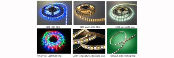 Streifen RGB, RGBW, RGBWW, mehrfarbig
