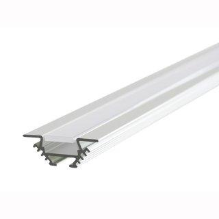 MikaLux PAC Flügelprofil, 30mm x10,5mm , für LED-Streifen, 90°,  für Raumecken, pro Meter