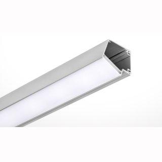 MikaLux Alu-  Profil IMET,  mit extra Platz für elektr. Komponenten, für Wandfassungen, 30 ° Abstrahlwinkel
