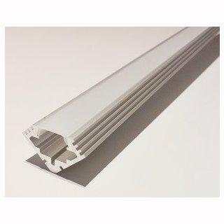 MikaLux Alu45- Profil, f. LED-Streifen, Eckenmontage, 19x19 mm,  pro Meter ohne Abdeckung
