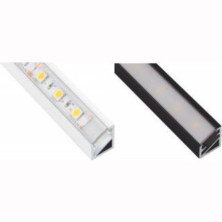 LED-Aluprofil mit Kabelkanal Tri-Line 14 x 10/16mm schwarz oder weiß