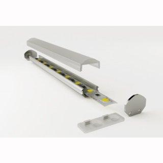 Mikalux Alu- Profil Torino, für einfache  LED-Streifen, 18x8,6mm, pro m