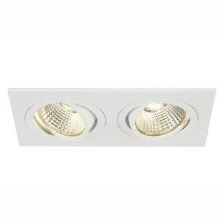 2er Downlight New Tria 155 II, 2xCOB LED, 3000K, 14W, 38°,