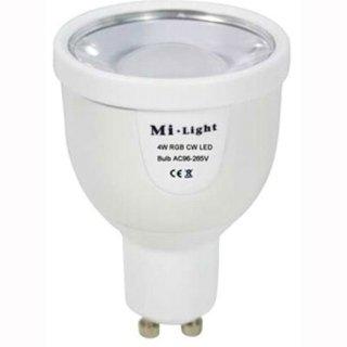 GU10, 4W, dualweiß(WW+KW), steuerbar mit 2.4G RF-Fernbedienung, dualweiß (23113466)