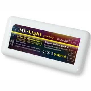2.4G WiFi Controller CCT 4-Zonen, für dualweiße LED- Streifen FUT035, bedienbar mit 2.4G RF-Fernbedienung, dualweiß (23113466),  max. 6/10A