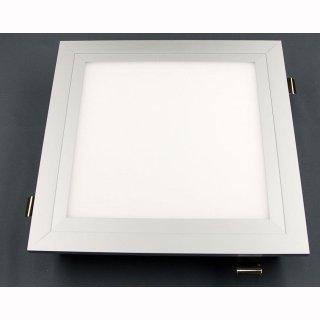Einbaurahmen für Panelleuchte  60x30x1,2cm, Metall weiß oder silber, Federklammern