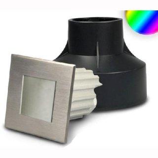 LED-Bodeneinbau RGB quadratisch 3W diffuse 24V