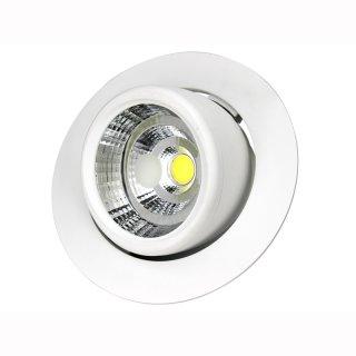 Deckeneinbaulampe rund, 40W, 24° / 60°,  D205x143mm DA190mm, ausschwenkbar