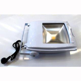 Mikalux LED Fluter Design weiss, COB 2x50W, IP65, 120° für Aussen und Innen