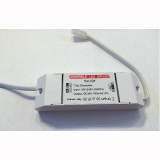 LED Konstantstromtreiber, 190mA DC, 10W, dimmbar, für flach 10W Downlight - nur in Serienschaltung!