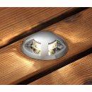 LED- Mini-Bodeneinbauspot- Set, 6tlg., 2700K, 30lm, IP44, D:3,5cm H: 5,2cm, modernes Design, Konstsmide