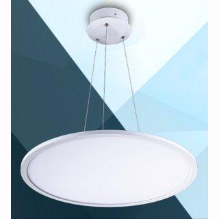 led panel pendelleuchte flach rund 50w up down d 60cm. Black Bedroom Furniture Sets. Home Design Ideas