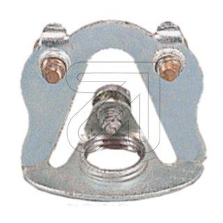 Pendelrohr-Aufhänger Innengewinde M10, verzinkt mit Erdungsklemme