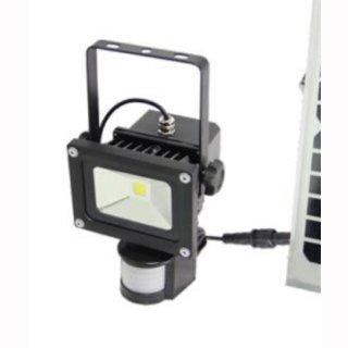 LED Bau- Aussenstrahler Li-Ion 10W IP65 120° COB Professional mit Bewegungsmelder für Solarpanel