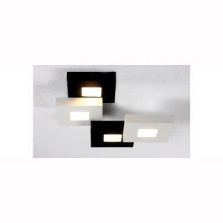 Deckenleuchte Cubus, schwarz/weiß, 4 flammig