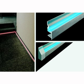 Mikalux LED-Sockelleisten-Profill Cambridge, 40x14mm, pro m, max 2m