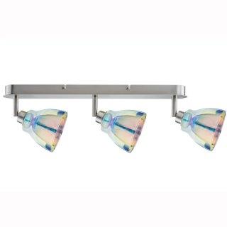 Aufbaustrahler Dichroic / Wolbi 3er, GU10, chrom glänzend, mit Regenbogenglas  601.24