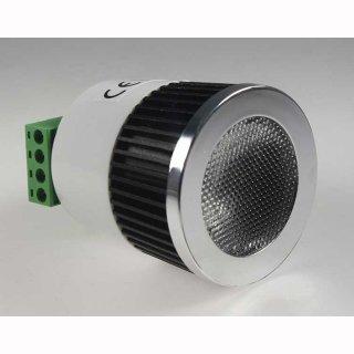 Downlight Einbau LED Spot, COB 5W RGB, 30° 12V DC, 2x4-Kabelanschlüsse