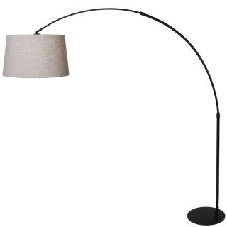 bogen auslegerbogen stehlampe stresa stahl mit bodenschalter 7268 oh 261 90. Black Bedroom Furniture Sets. Home Design Ideas