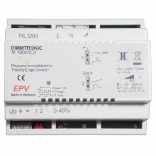 EPV Phasenabschnittdimmer DIMMTRONIC M1000/3.3 zur Tasterbedienung oder 1-10V