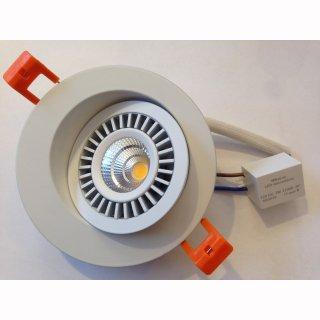 Downlight Spot 12VDC, 7W, superflach 30mm, COB, schwenkbar 90°, abstrahlwinkel 45°-60°, weiß