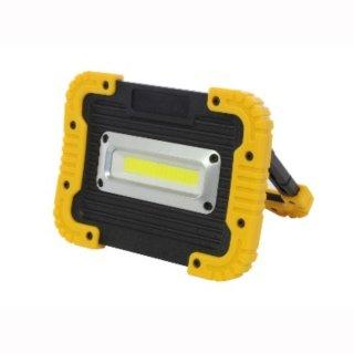 LED Bau- Werkstatt- Aussenstrahler Li-Ion High Power Chip 10W IP54 120° + USB