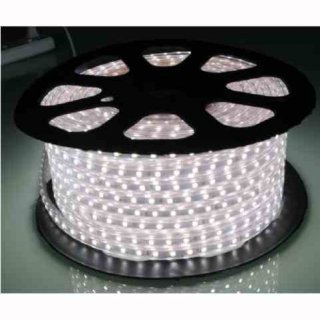 Hochvolt-LED-Streifen 50m Rolle, 14W/m, 1400lm/m, 72 SMD-LED/m, 230V,  warmweiß 2700K, IP65