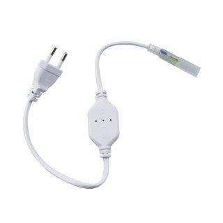 Anschlußleitung für Lichtschlauch SMD 35280 LED 230V, 50cm teilbar, IP65, Gleichrichter bis 50m