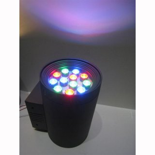 Wandaufbaulampe UP-Down LED 12W RGB
