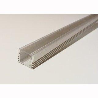 MikaLux AluPU12 Profil, tief, für LED-Streifen,16x12 mm, pro Meter