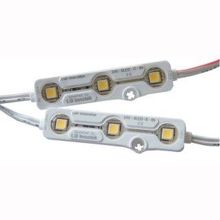 Modul SMD 3X5050 0,72W 140° 12V LG Injection IP68, extra Premiumklasse