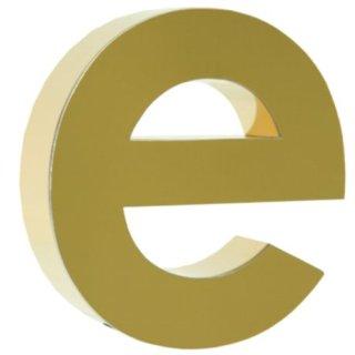 Buchstaben PR1 Titan gold LED backlight LED Logo