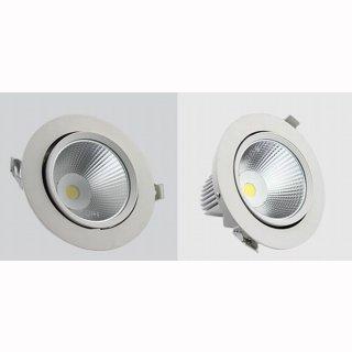 Downlight Spot 20W COB bis zu 45° ausschwenkbar, Deckenausschnitt 170mm