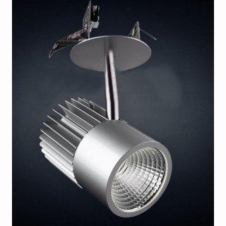 Anbaustrahler 15W COB-LED, 24°, Einbaurosette, 230V