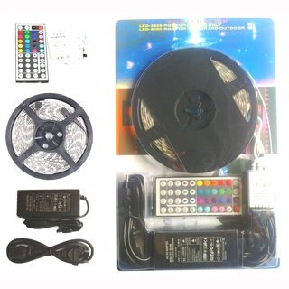 Flex Stripe Set RGB 5m SMD5050/300 LEDs, IP20, 44-Tasten IR-FB, 12V, 60W