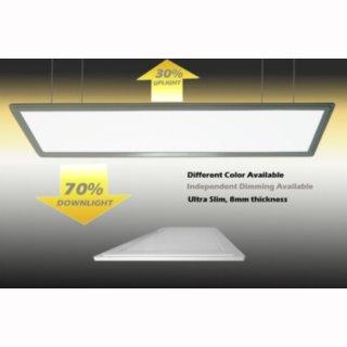 LED Panelleuchte 120x30x1,2cm 55W Up-Down, optional 2 getrennte Weißfarben möglich