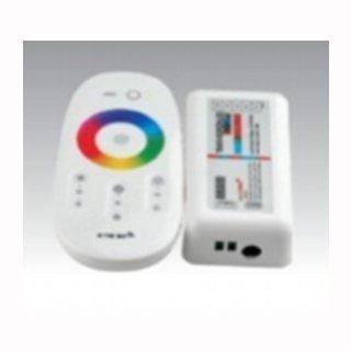 RGB-W Controller Set  Farbrad 4-Kanal, Funkfernbedienung weiß, 20 Programme,