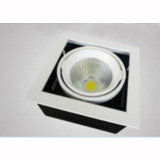 kardanische Deckeneinbaulampe COB LED 1x28W 40°, Rahmen weiß, high Cri