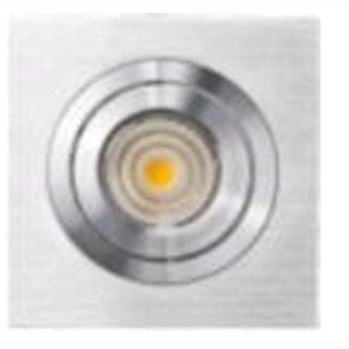 Deckeneinbauring System EVO50 verstellbar Alu brush quadrat einzeln