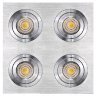 Deckeneinbauring System EVO50 verstellbar Alu brush quadrat vierfach