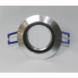 Einbauring, starr, MR16/GU10 Alu poliert,  rund, DA:55-60mm, Innenring schwarz, Hx-8867