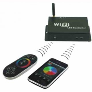 RGB-Wifi Controller Set mit Farbrad 3-Kanal, Funkfernbedienung, Android,  IOS(Apple)