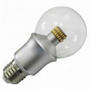 LED Kugelbirne klar 6W, E27, 300°, 0-100% dimmbar, 540lm, klare Abdeckung