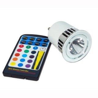 GU10  5W RGB LED  mit IR Fernbedienung