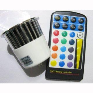 PAR 16 LED Spot 5W RGB mit IR Fernbedienung E27