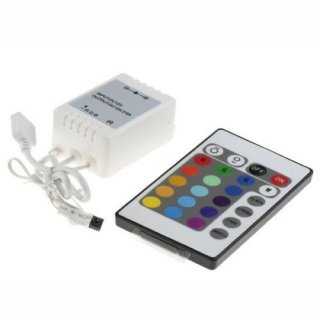 RGB IR Ferbedienung 24-Tasten 12V 6A