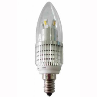 Kerzenbirne LED 7W klar  oval silber SMD high CRI dimmbar 30-100% 650lm