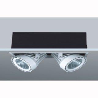 kardanische Deckeneinbaulampe COB LED 2x17W 30° DA 308x155mm