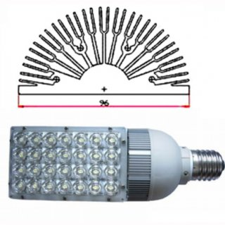 LED Kornlampe 28W Bridgelux IP40 120x60° E27