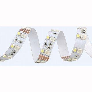 Flex Stripe RGB-WW 600 SMD5050+3528 LEDs/5m, 12V, 19W/m, 5 Meter Rolle